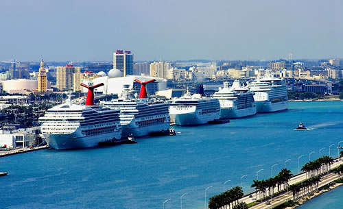 Car Parking At Miami Cruise Port